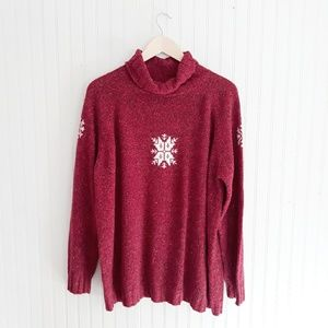 Woolrich Turtleneck Snowflake Sweater